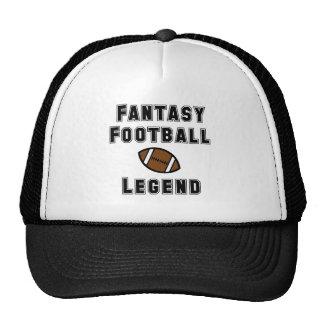 Leyenda del fútbol de la fantasía gorro