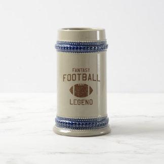Leyenda del fútbol de la fantasía jarra de cerveza
