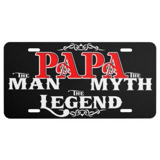 Leyenda del mito del hombre de la PAPÁ Placa De Matrícula