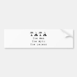Leyenda del mito del hombre de Tata Etiqueta De Parachoque