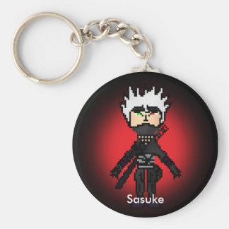 Leyenda del Ninja crepuscular Sasuke Llavero Redondo Tipo Pin