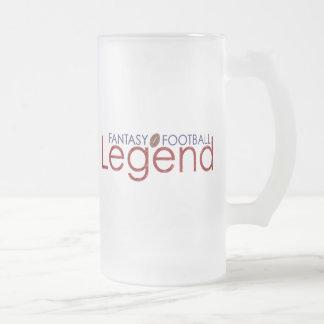 leyenda nuevo 2010 del fútbol de la fantasía taza cristal mate