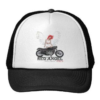 Leyenda roja del motor del corredor del café del á gorros bordados
