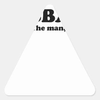 Leyenda t-shirt.png del mito del hombre de la papá pegatina triangular
