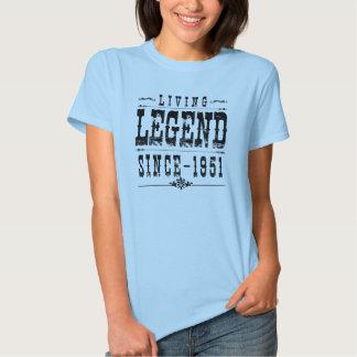 Leyenda viva desde 1951 playeras