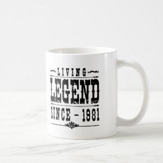 Leyenda viva desde 1981 taza