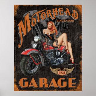 Leyendas - garaje de Motorhead Póster