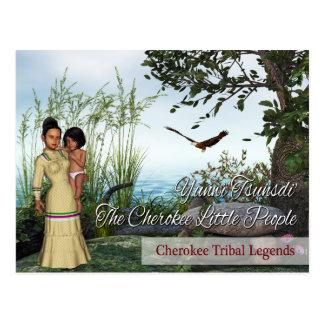 Leyendas tribales cherokees: La pequeña gente Tarjeta Postal