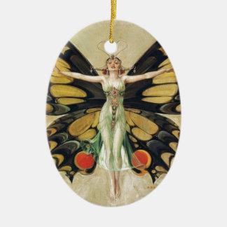 Leyendecker Butterfly Woman Ceramic Ornament
