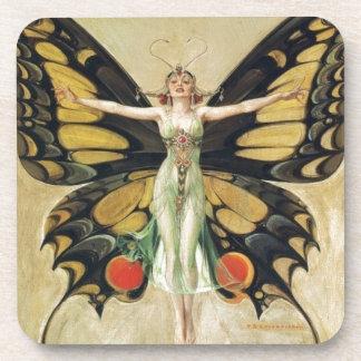 Leyendecker Butterfly Woman Coaster