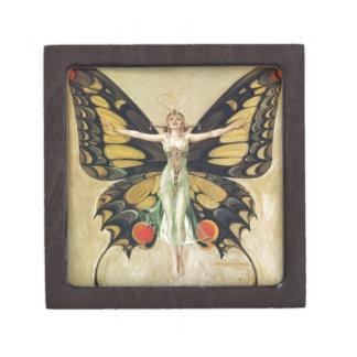 Leyendecker Butterfly Woman Jewelry Box