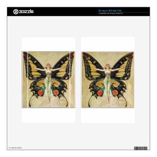 Leyendecker Butterfly Woman Skin For Kindle Fire
