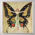 Leyendecker - mujer de la mariposa posters