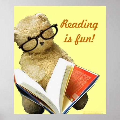 Leyendo el oso - poster