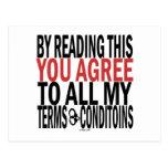 Leyendo esto usted está de acuerdo postal