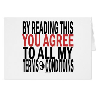 Leyendo esto usted está de acuerdo tarjeta de felicitación