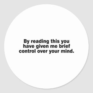 Leyendo esto usted tiene… etiqueta redonda