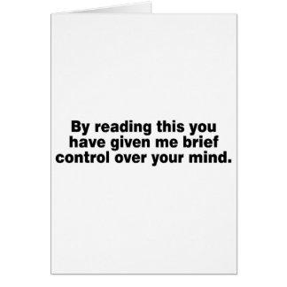 Leyendo esto usted tiene… tarjeta