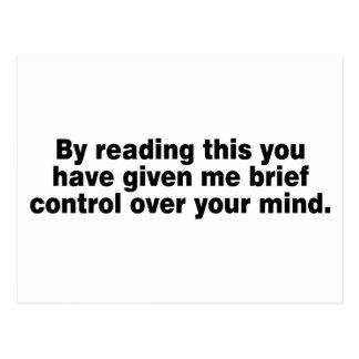 Leyendo esto usted tiene… postal