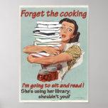 Leyendo o cocinando el poster