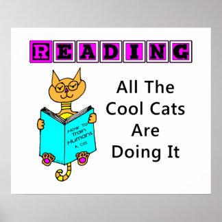 Leyendo todos los gatos frescos lo están haciendo poster