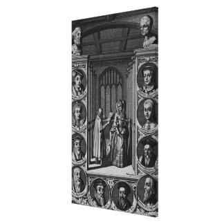 Leyendo una letra a la reina Elizabeth I Lienzo Envuelto Para Galerias