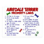 Leyes 2 de la propiedad de AIREDALE TERRIER Postal
