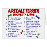 Leyes 2 de la propiedad de AIREDALE TERRIER Tarjeta