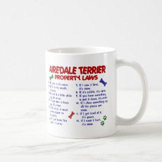 Leyes 2 de la propiedad de AIREDALE TERRIER Tazas