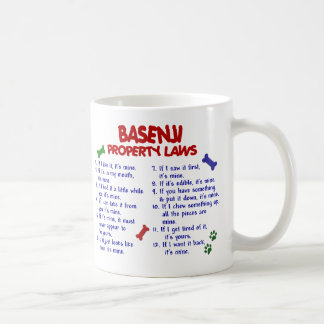 Leyes 2 de la propiedad de BASENJI Taza De Café