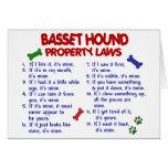 Leyes 2 de la propiedad de BASSET HOUND Tarjeta