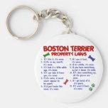 Leyes 2 de la propiedad de Boston Terrier Llavero Redondo Tipo Pin