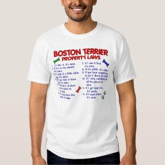 Leyes 2 de la propiedad de Boston Terrier Playeras