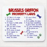 Leyes 2 de la propiedad de BRUSELAS GRIFFON Tapete De Raton