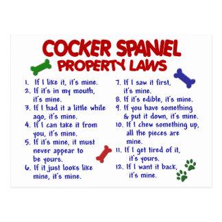 Leyes 2 de la propiedad de COCKER SPANIEL Postal