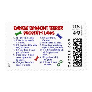 Leyes 2 de la propiedad de DANDIE DINMONT TERRIER Franqueo