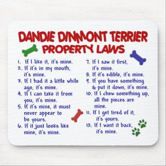 Leyes 2 de la propiedad de DANDIE DINMONT TERRIER Tapetes De Ratones