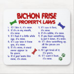 Leyes 2 de la propiedad de FRISE de BICHON Tapete De Ratón