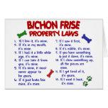 Leyes 2 de la propiedad de FRISE de BICHON Felicitacion