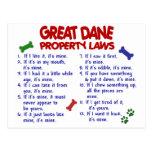 Leyes 2 de la propiedad de GREAT DANE Postal
