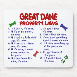 Leyes 2 de la propiedad de GREAT DANE Alfombrilla De Ratón