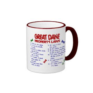 Leyes 2 de la propiedad de GREAT DANE Taza