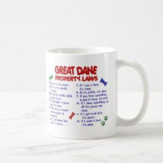 Leyes 2 de la propiedad de GREAT DANE Taza De Café
