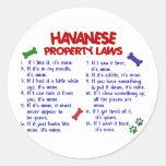 Leyes 2 de la propiedad de HAVANESE Pegatina Redonda
