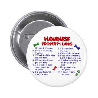 Leyes 2 de la propiedad de HAVANESE Pins
