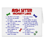 Leyes 2 de la propiedad de IRISH SETTER Felicitación