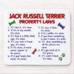 Leyes 2 de la propiedad de JACK RUSSELL TERRIER Tapete De Ratón