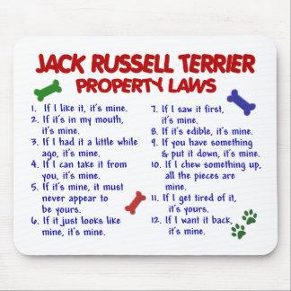 Leyes 2 de la propiedad de JACK RUSSELL TERRIER Tapetes De Raton