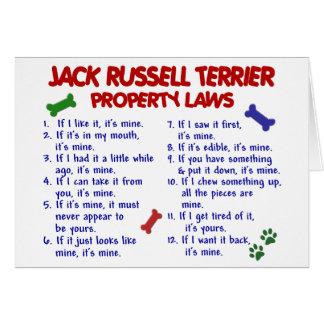 Leyes 2 de la propiedad de JACK RUSSELL TERRIER Tarjeta