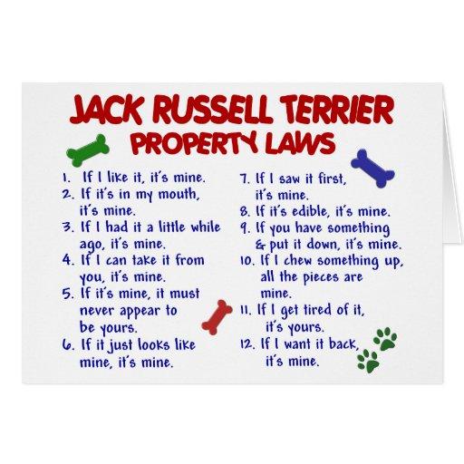 Leyes 2 de la propiedad de JACK RUSSELL TERRIER Tarjeta De Felicitación